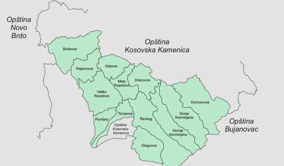 Područje Domorovca na Kosmetu naslanja se teritorijalno na opštinu Bujanovac. Foto mape