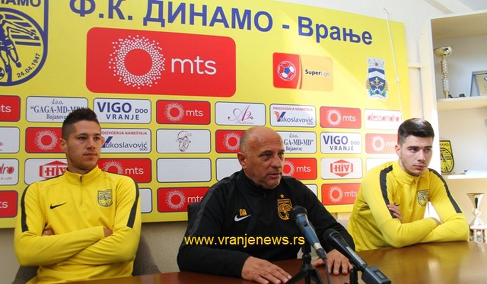 Napredak ima pet puta veći budžet, ali imamo i mi svoje adute: predsednik i fudbaleri Dinama. Foto VranjeNews