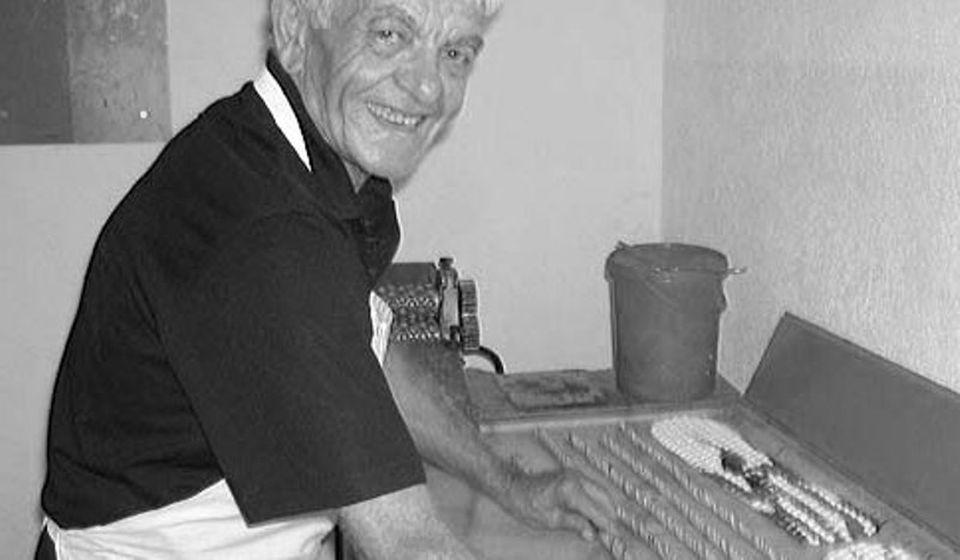 Miloje Ilić - Mile Bombondžija. Foto privatna arhiva