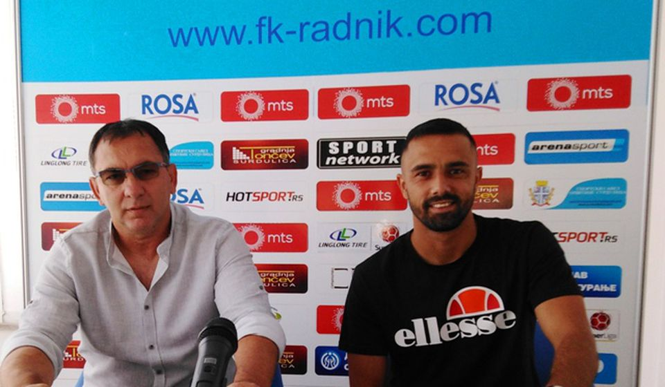 Slaviša Božičić i Zoran Danoski na konferenciji za medije. Foto FK Radnik
