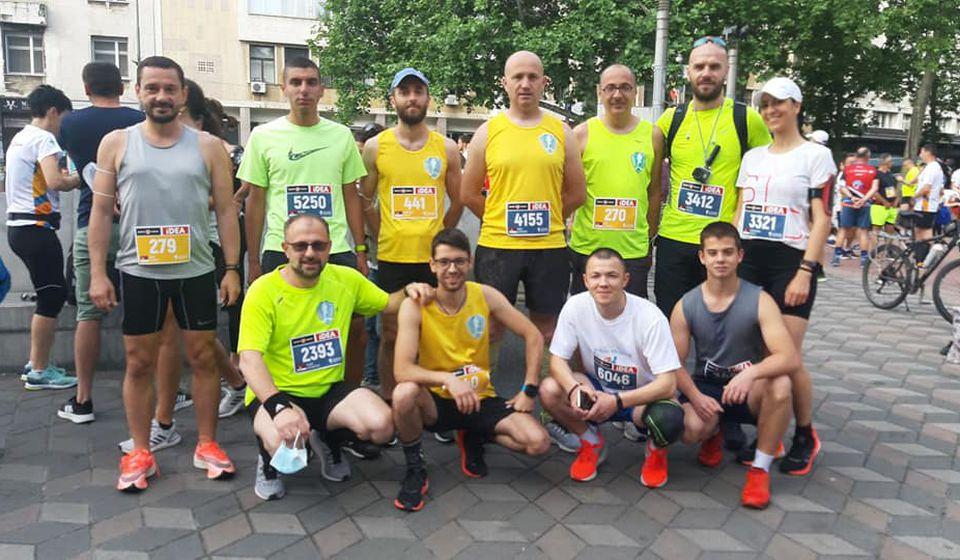 Učesnici Beogradskog maratona iz vranjskog kluba. Foto AK Vranjski maratonci