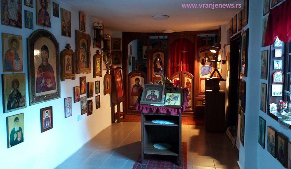 Unutrašnjost Crkve Svete Petke, u Vranju poznatije kao