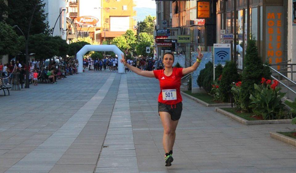 Dunja Marković na Vranjskom polumaratonu 2019. Foto VranjeNews