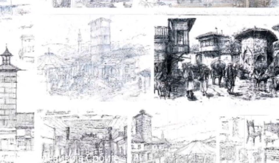 Skice po kojima se pravi Staro Vranje u Ripnju. Foto printscreen RTS