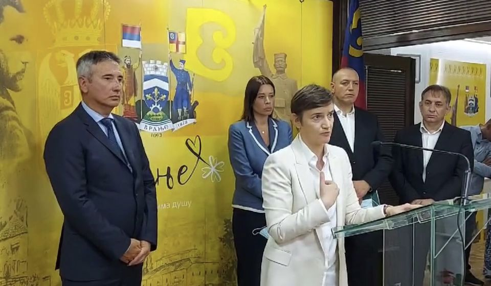 Odluka stupa na snagu od subote: premijerka Brnabić prilikom nedavnog boravka u Vranju. Foto vranje.rs