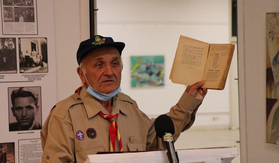 I u 80. godini života na čelu Odreda izviđača Sima Pogačarević: Miodrag Đorđević Gagi. Foto Vranje News