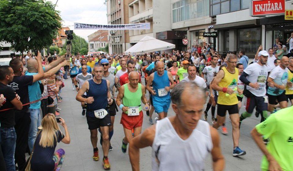 Detalj sa prošlogodišnjeg maratona u Vranju. Foto VranjeNews