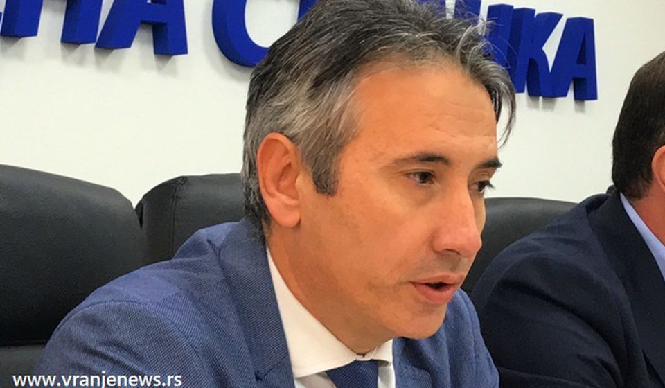 Prvi na lokalnoj listi naprednjaka: gradonačelnik Vranja i potpredsednik GrO SNS Slobodan Milenković. Foto Vranje News