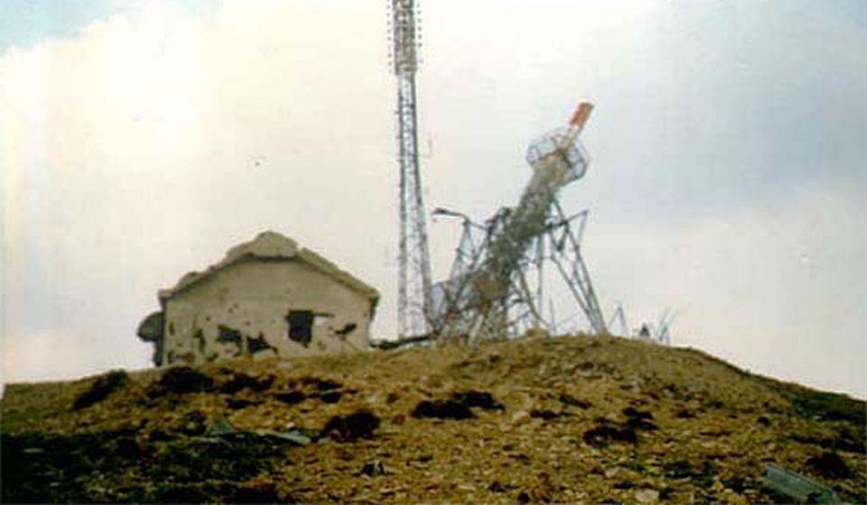 Relej na Pljačkovici, bombardovan osiromašenim uranijumom. Foto Istorisjki arhiv Vranje