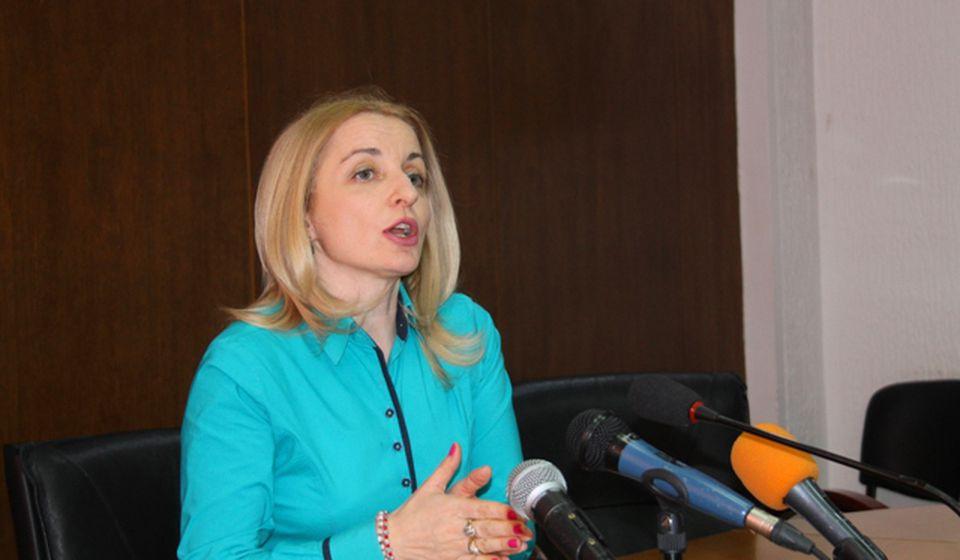Zorica Jović na današnjoj konferenciji za medije. Foto VranjeNews
