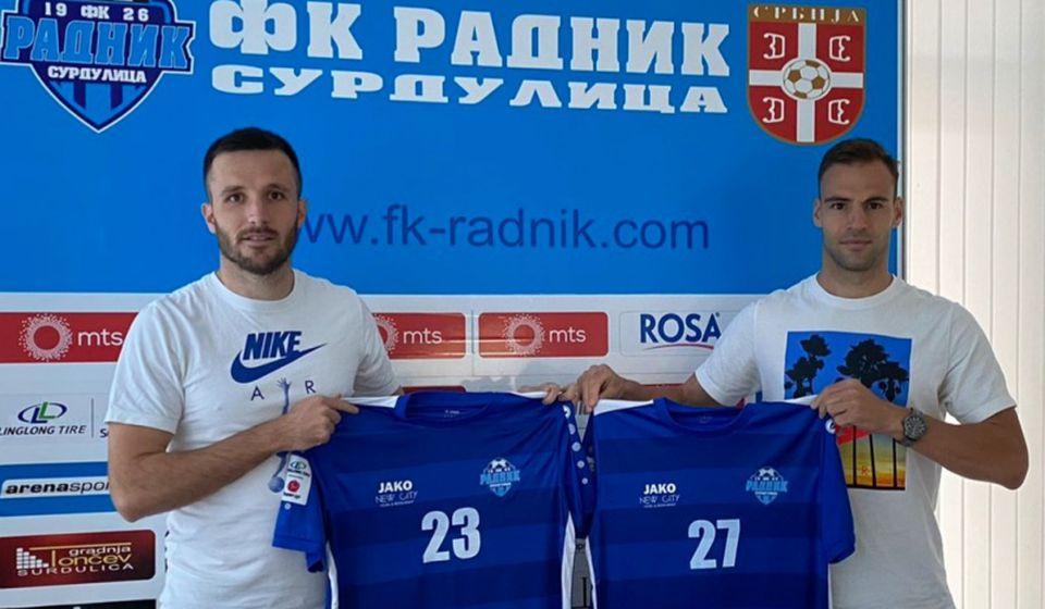 Nemanja Subotić i Dušan Brković pojačavaju konkurenciju u redovima surduličkog superligaša. Foto FK Radnik