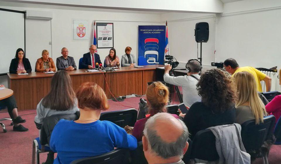 Detalj sa današnje konferencije za medije u Osnovnom sudu. Foto VranjeNews