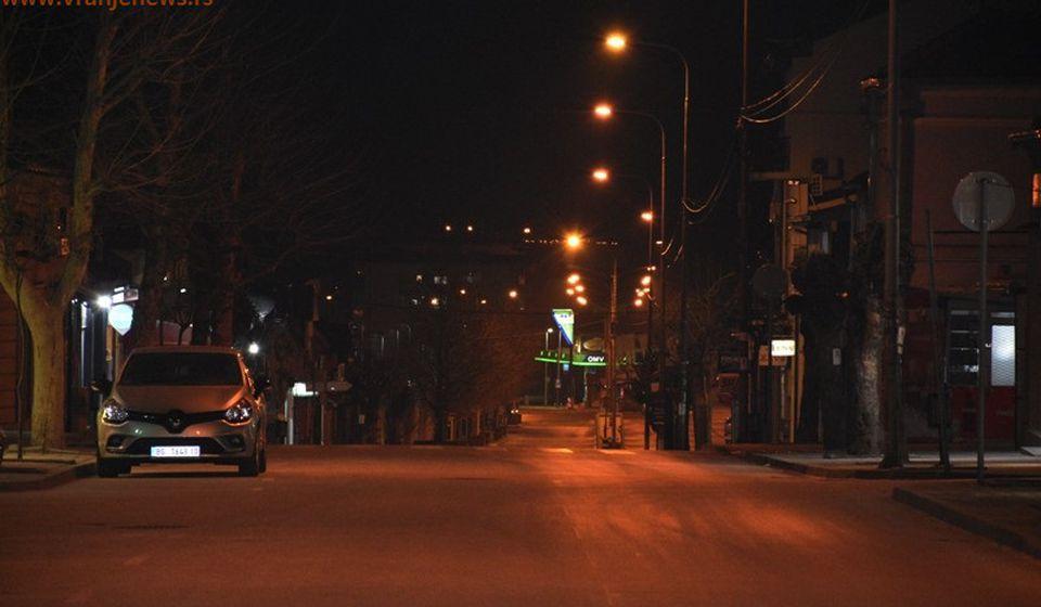 Policijski čas u Vranju iz aprila 2020. Foto Vranje News