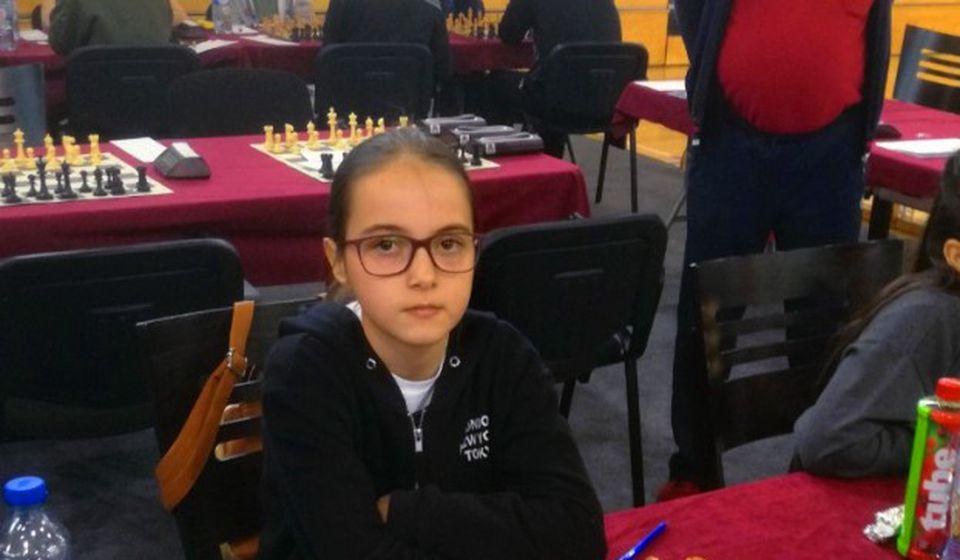 Počela da trenira šah pre polaska u školu: Sofija Stojanović. Foto privatna arhiva