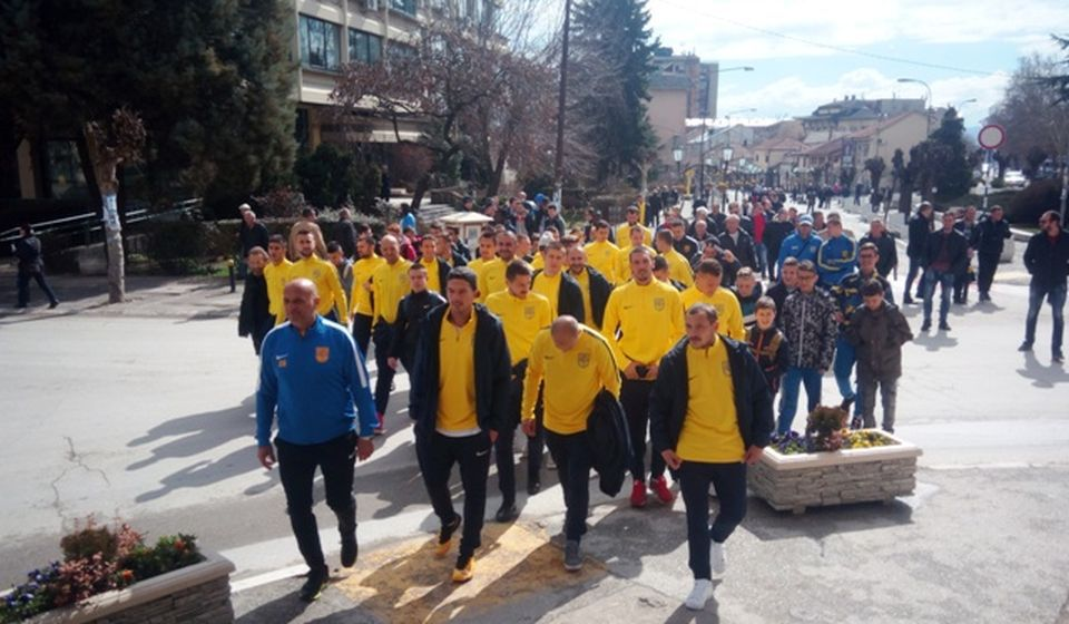 Martovski bunt fudbalera Dinama. Foto VranjeNews