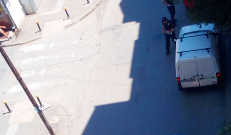 Vranjski saobraćajci na zadatku. Foto VranjeNews