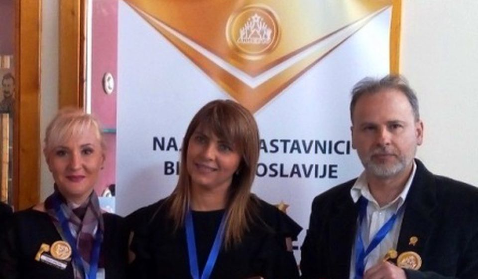 MiDej sa kolegama iz Srbije u Skoplju. Foto lična arhiva