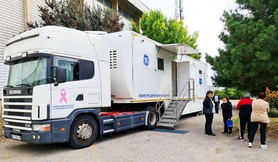 Mobilni mamograf. Foto ZC Vranje
