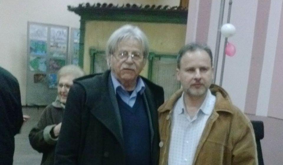Sa Ljubivojem Ršumovićem. Foto lična arhiva