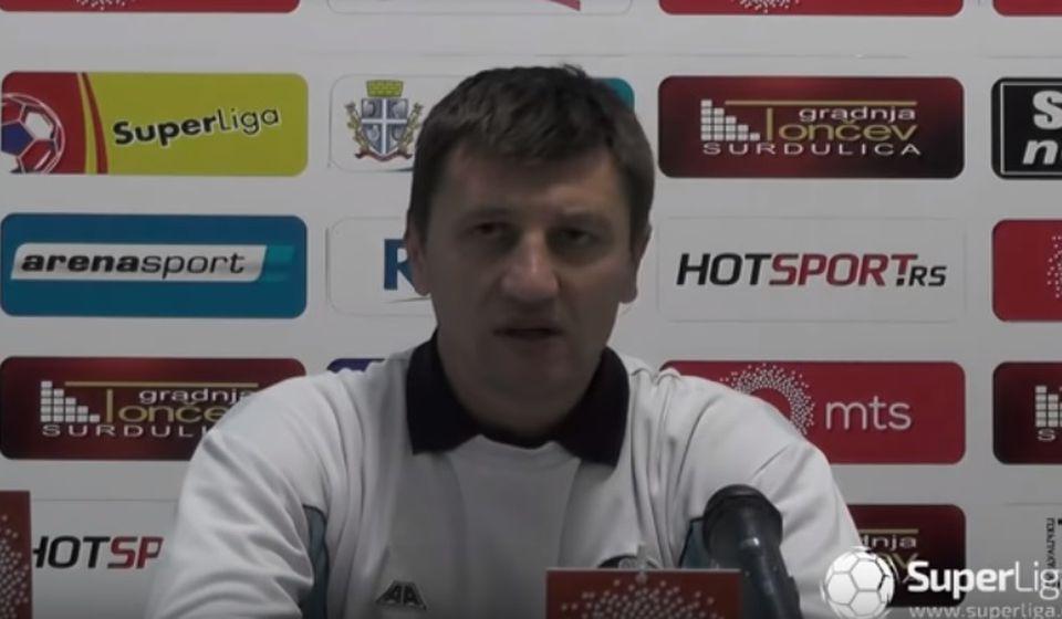 Trener Rada Stevanović. Foto printscreen Super liga