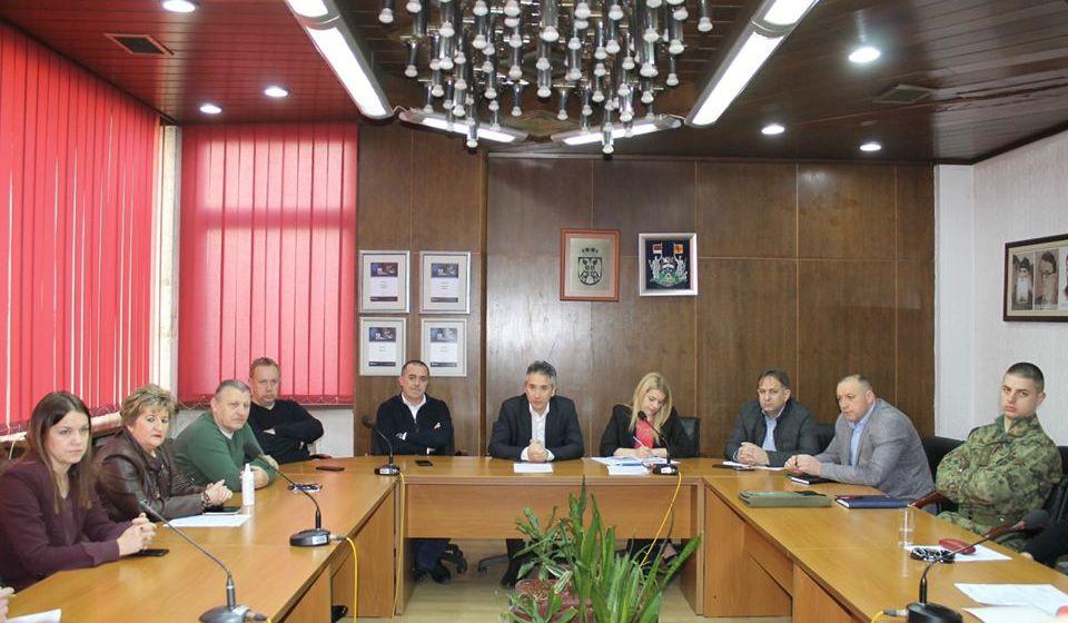 Sa sednice Kriznog štaba. Foto www.vranje.org.rs