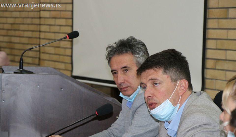 Stevanović sa gradonačelnikom Vranja Slobodanom Milenkovićem. Foto Vranje News