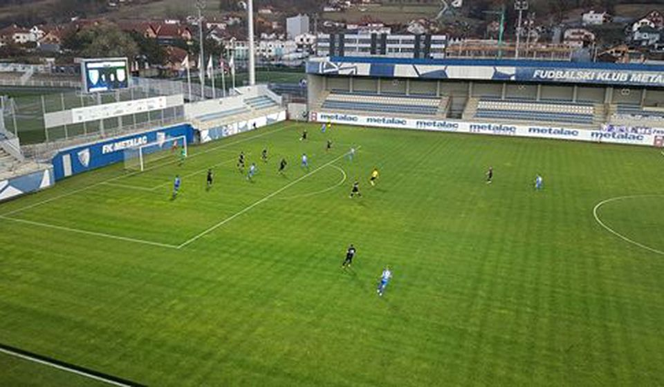 Detalj sa utakmice u Gornjem Milanovcu. Foto FK Metalac