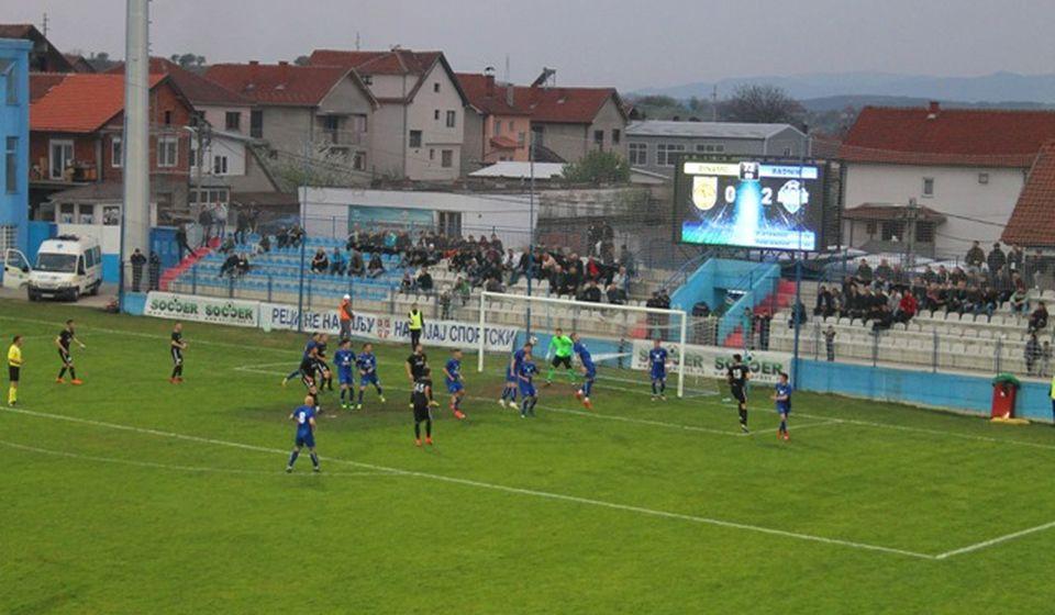 Detalj sa prethodnog meča u Surdulici koji je Radnik dobio sa 3:0. Foto VranjeNews