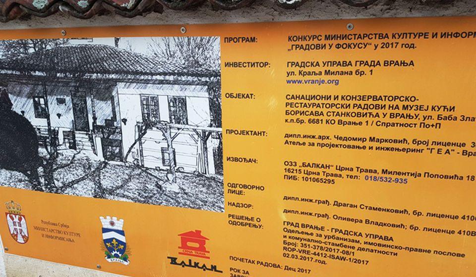 U toku su konzervatorsko-restauratorski radovi. Foto VranjeNews