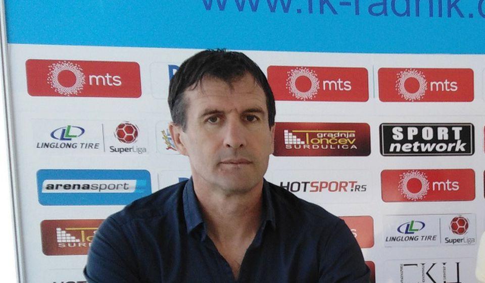 Trener Surduličana Nenad Vanić. Foto FK Radnik
