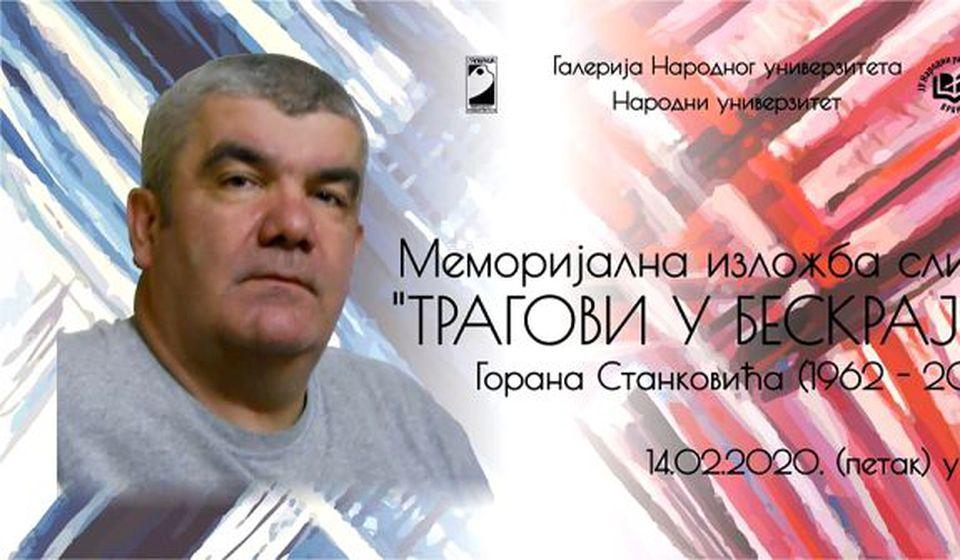 Goran Stanković (1962 - 2019). Foto plakat