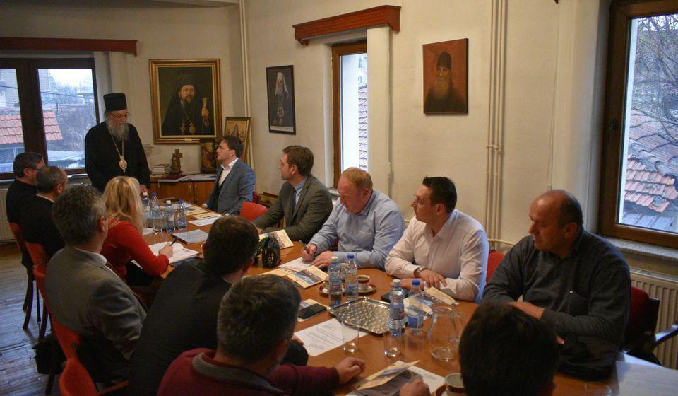 Sa sastanka Izvršnog odbora za obeležavanje godišnjice. Foto Eparhija vranjska