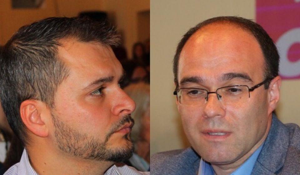 Sadašnji i bivši: Stojmenović (levo) i Stojančić. Foto Vranje News