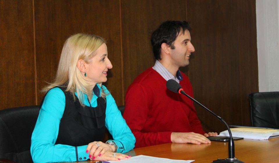 Gradski većnici Zorica Jović i Bojan Kostić. Foto VranjeNews