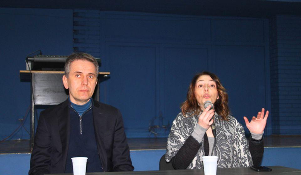 Saša Radulović i Branka Stamenković u sali OKCE. Foto VranjeNews