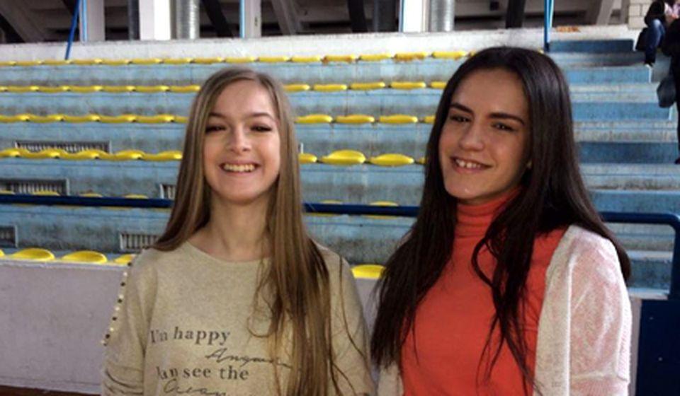 Emilija i Mila na pretkvalifikacionom takmičenju u Vranju. Foto Grad Vranje