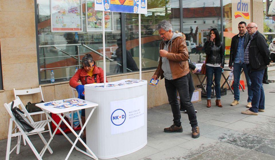 Ulična akcija danas u centru Vranja. Foto VranjeNews