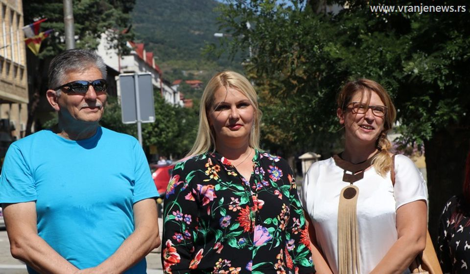 S leva nadesno: Slobodan Stojković, Gordana Dimitrijević i Anita Janković. Foto Vranje News