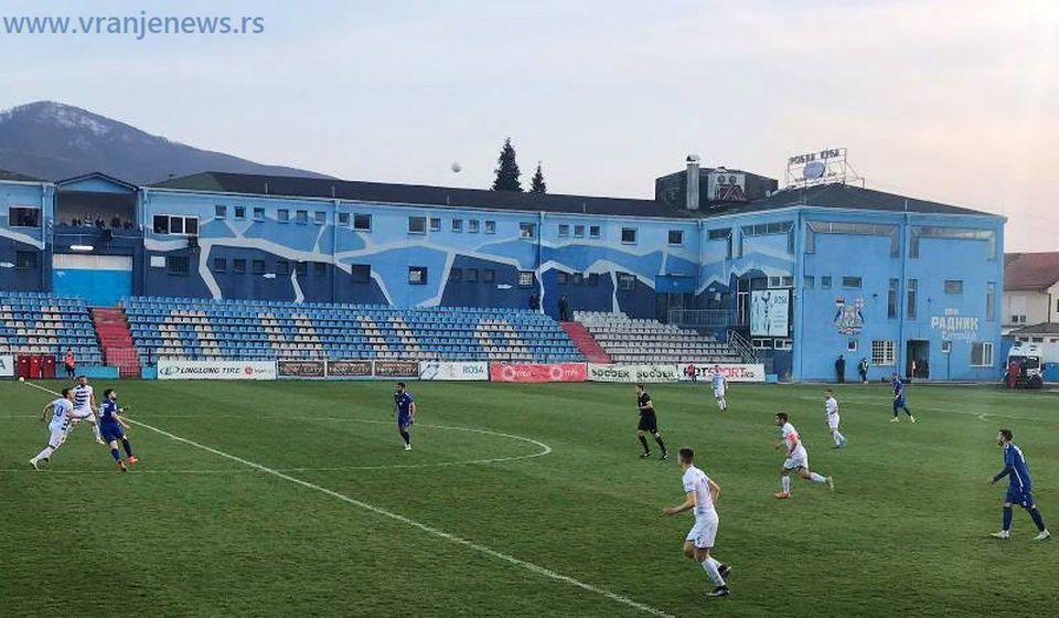 Detalj sa današnje utakmice. Foto Vranje News