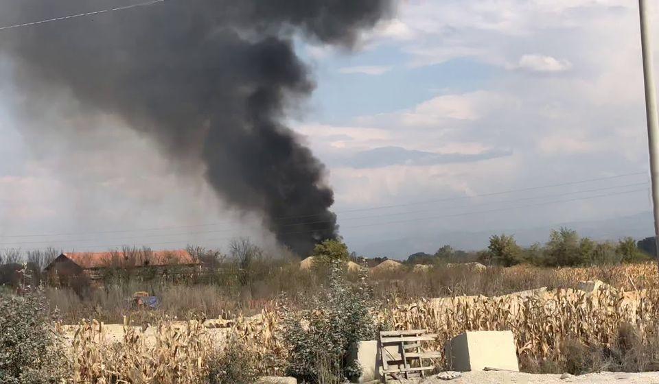 Dim sa bujanovačke deponije. Foto screenshoot Youtube