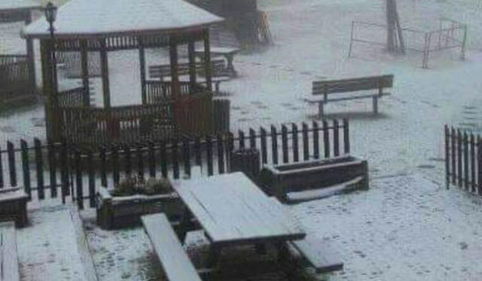 Prvi sneg ove sezone. Foto TOV