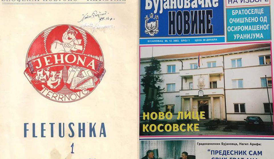 Foto printscreen naslovnih strana prvog broja časopisa
