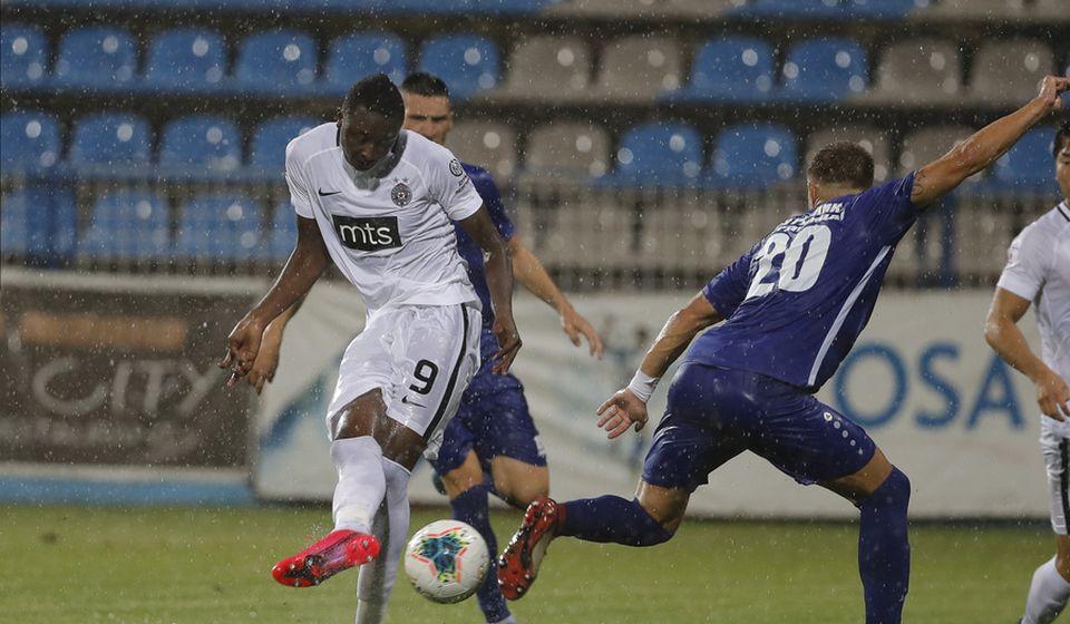 Strelac drugog gola za crno-bele: Omar Sadik. Foto FK Partizan