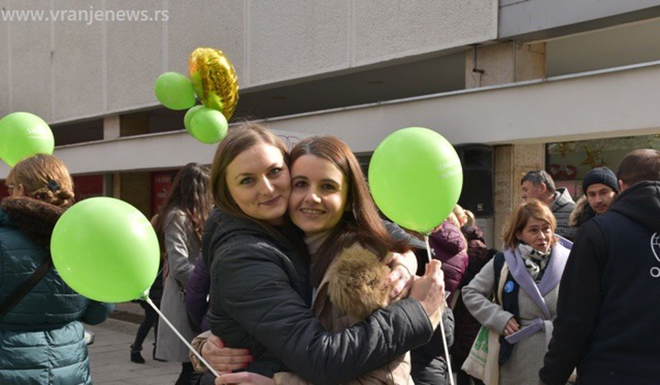 Sa današnje akcije NURDOR-a u centru Vranja. Foto Vranje News