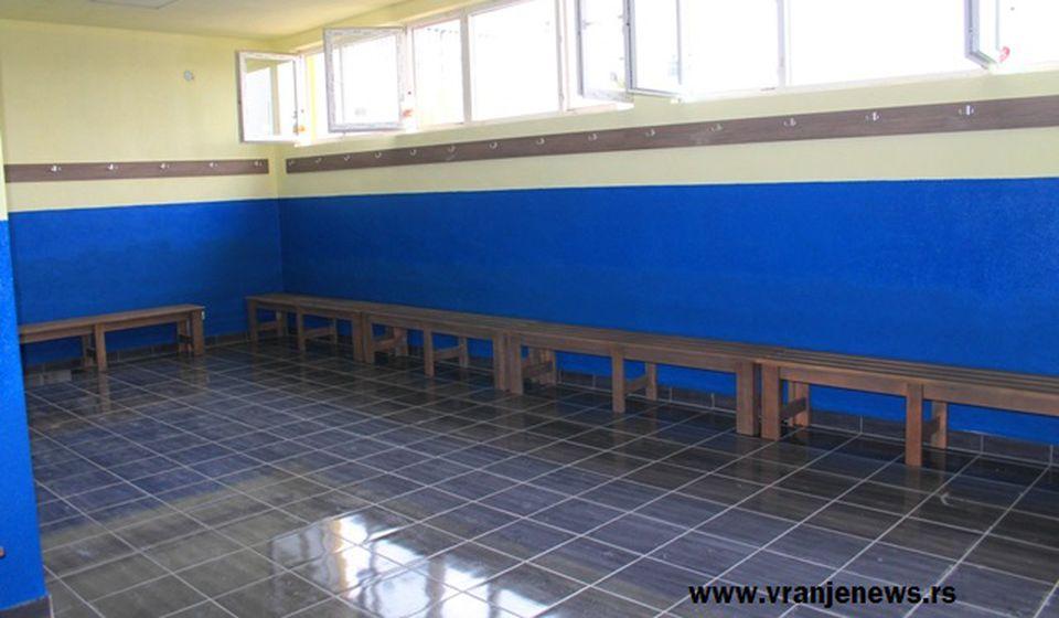 Sada to izgleda ovako: nove svlačionice. Foto VranjeNews