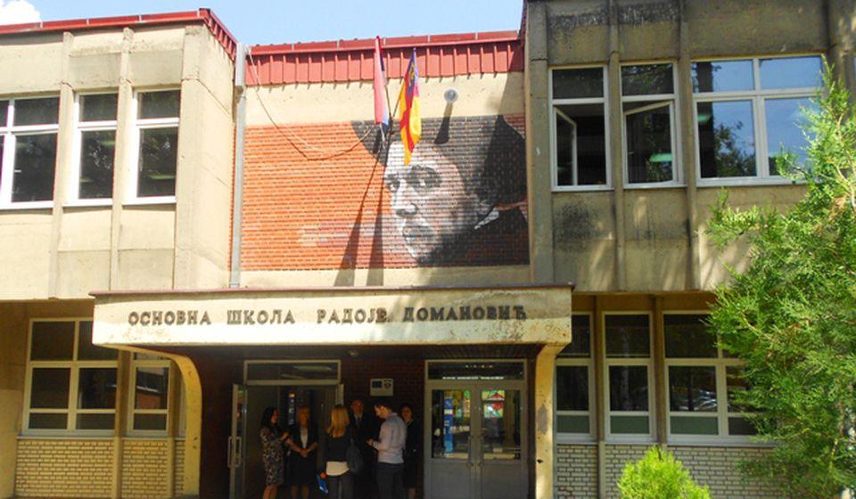 Jedna od dve osnovne škole koje pohađaju migranti: OŠ Radoje Domanović. Foto VranjeNews