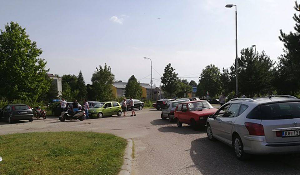 Početak nije obećavao, ali su vozači potom preplavili ulice Vranja. Foto VranjeNews