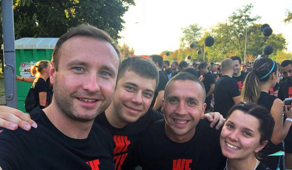 Takmičari iz Vranja na trci u Beogradu. Foto AK Vranjski maratonci
