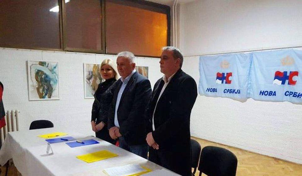Miroslav Krstić sa Velimirom Ilićem na izbornoj skupštini u Vranju. Foto privatna arhiva