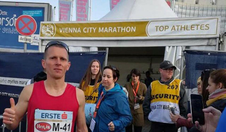 Stošić na nedavnom polumaratonu u Beču. Foto AK Vranjski maratonci
